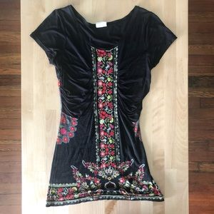 Free People beaded fitted tunic